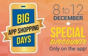 Big App Shopping Days Offer@ Flipkart: Special Discount Offers for Mobile App Users (Valid from 8th to 12th Dec'14)