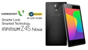 Exclusive Launch @ Flipkart with Rs.1000 Inaugural Discount on Videocon Infinium Z45 Nova ( Black / White) for Rs.4999 Only (Great Features @ Least Price)