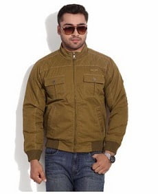 Duke Brown Cotton Quilted Jacket
