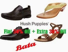 Amazing Offer: Flat 50% Off on Bata / Hush Puppies Men's & Women's Footwear
