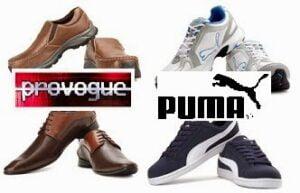 PUMA & PROVOGUE Men's Footwear - Flat 50% Off