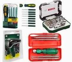Home Improvement Tools (Bosch & Stanley Screw Drivers) - Min 40% Off