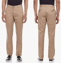Scullers Men's Slim Fit Trousers