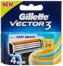 Gillette Vector 3 (Pack of 4 Cartridges)