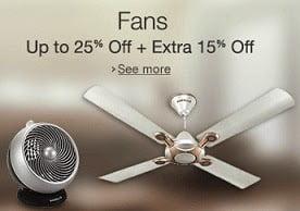 Ceiling, Table Fan, Wall Fan, Exhaust Fan: Upto 25% Off