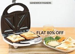 Nova Sandwich Maker – Flat 80% Off, starts from Rs.626 Only@ Flipkart