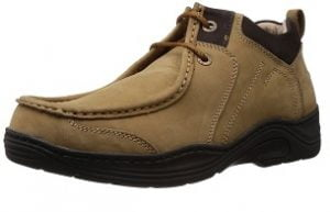 Redchief Mens Leather Trekking and Hiking Footwear