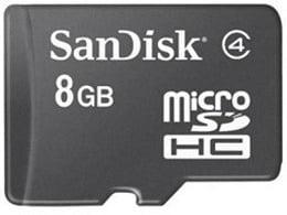 SanDisk MicroSD Card 8 GB Class 4 for Rs.99 Only @ Flipkart