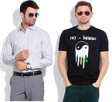 Men's T-Shirts under Rs.299 | Men's Shirts under Rs.499 @ Flipkart (Limited Period Deal)