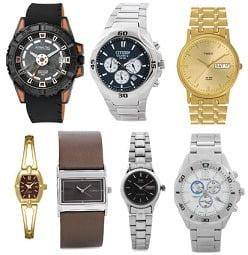 Flat 50% Off on Timex, Citizen, Q&Q, Keneth Cole Men's / Women's Watches@ Flipkart