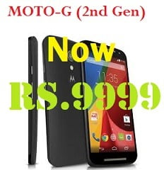 Now MOTO-G (2nd Generation) with Lollipop for Rs.9999 Only @ Flipkart