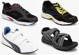 Reebok | Adidas | Puma | Nike | Adidas-Originals | Asics | Crocs | Converse | Fila Sports Shoes: Min 50% upto 60% off