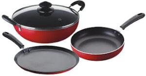 Bajaj Majesty Duo Non-Stick Cookware Set, 4 Pieces