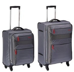 American Tourister Ski Polyester 55Cms Grey Soft Sided Suitcase