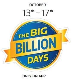(Updated) Flipkart Biggest Sale: The Big Billion Days 13th – 17th October'15