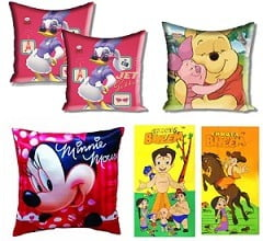 Children's Day Special: Flat 60% Off on Cartoon Character Cushion Cover & Bath Towels