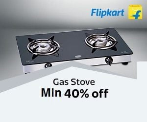 Min 40% Off on Gas Stoves + Extra 10% off with HDFC Cards @ Flipkart (Valid for Limited Period)
