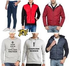 Campus Sutra Men's Tracksuits, Sweatshirts, Jackets – Min 50% Off@ Amazon