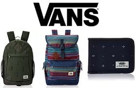 VANS (Internationl Brand) Wallets & Backpacks - Flat 50% to 70% Off