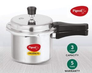 Pigeon Favourite 3Ltr Outer Lid Pressure Cooker for Rs.549 @ Amazon