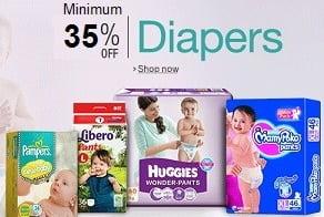 Baby Diapers – Minimum 35% Off @ Amazon