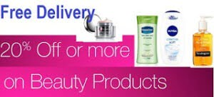 Min 20% Off on Beauty Products (Hair Care, Skin Care, Bath, Makeup, Fragrances)
