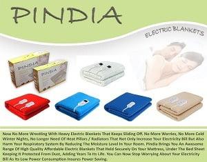 Single / Double Heating Blankets (Pindia) – Flat 50% to 60% Off @ Amazon