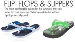 Min 60% Off on Flip Flops & Slippers