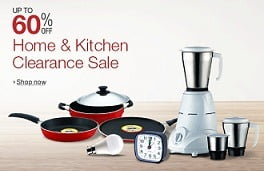 Home & Kitchen Clearance Sale: Up to 60% Off on Kitchen & Home Utilities