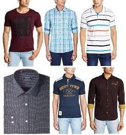 Flat 60% Off on Men Shirts & T-Shirts
