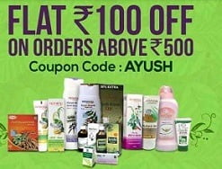 Patanjali Products : Get Rs.100 Off on Min cart Value of Rs.500 or above@ 1mg