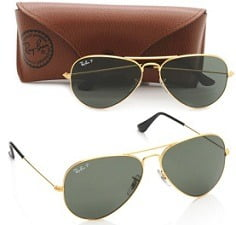 Ray-Ban Aviator Sunglasses (Natural Green) (RB3025|001/58|55)