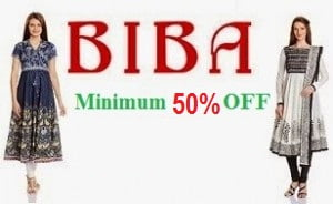Biba Women's Kurta Salwar Suit Anarkali & more: Min 50% Off @ Amazon