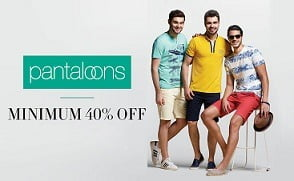 Pantaloon Men's Clothing (Ajile, SF Jeans, Byford) – Min 40% Off @ Amazon starts Rs.239
