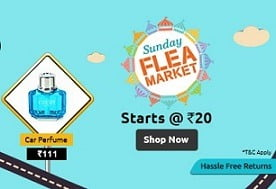 Shopclues Sunday Flea Market: Buy Products at unbeatable Price + Extra 50% Oxigen / Airtel Money Cashback