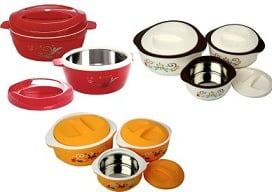 Cello Hot Meal Insulated Pack of 3 Casserole