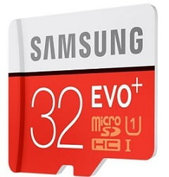 Samsung Evo Plus 32 GB MicroSDHC Class 10 memory card