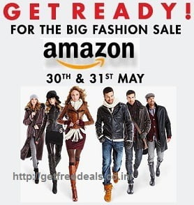 (Upcoming) Amazon Big Fashion Sale on Clothing, Footwear & more (Starts 30th May'16)