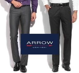 Steal Deal: Arrow Men's Trousers – Flat 75% Off starts Rs.499 @ Flipkart
