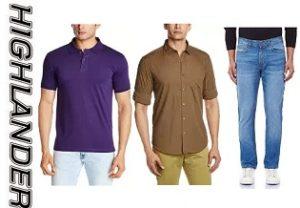 Highlander Men's Clothing – Flat 50% to 70% Off @ Amazon