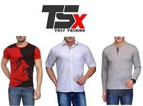 TSX Men's Clothing - Minimum 60% Off