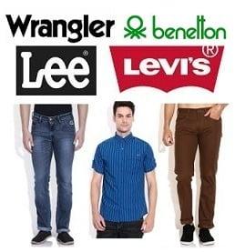 Branded Wear- Benetton, Wrangler, Lee & more below Rs.999