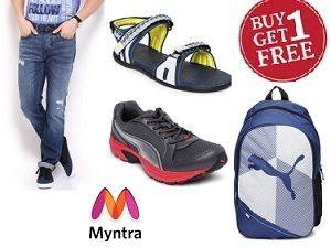 Buy 1 Get 1 Free Offer on Clothing | Footwear & Fashion Accessories @ Myntra