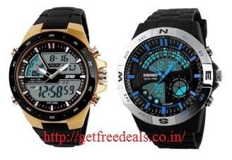 Curren | Skmei Men's Chronograph Watches – Min 65% Off@ Flipkart