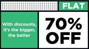 Flat 70% Off on Men Shirts