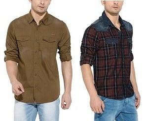 Mufti Men's Clothing – Minimum 50% Off@ Amazon