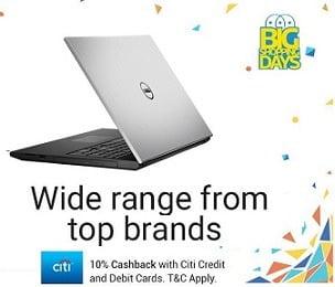 Flipkart Sale on Laptops starts Rs.9999 + Extra 10% Cashback with CITI Bank Debit / Credit Card
