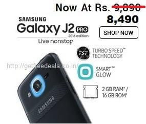 Samsung Galaxy J2 Pro (16GB) Smartphone for Rs.8490 – Amazon