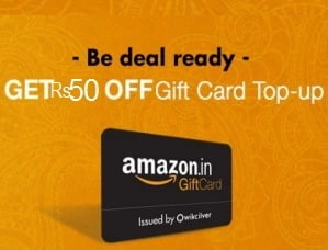 Top-up Amazon.in Gift Cards balance worth Rs.1000 for Rs.950