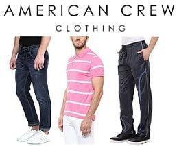 American Crew Men's Clothing – Flat 70% Off @ Amazon
